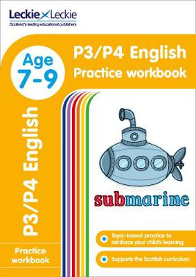 Picture of P3/P4 English Practice Workbook: Extra Practice for CfE Primary School English (Leckie Primary Success)
