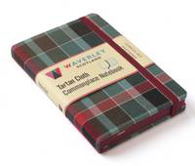 Picture of Gordon Red Weathered: Waverley Genuine Tartan Cloth Commonplace Notebook (9cm x 14cm