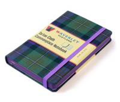 Picture of Isle of Skye Tartan: Waverley Scotland Large Tartan Cloth Commonplace Notebook