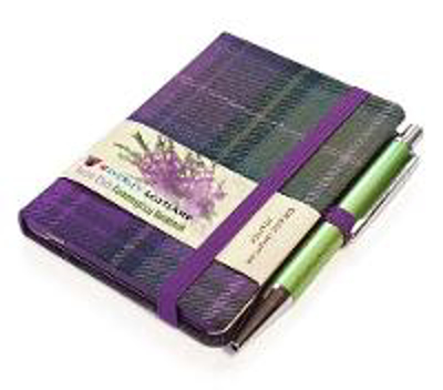 Picture of Heather Tartan: Mini Notebook with Pen: 10.5 x 7cm: Scottish Traditions: Waverley Genuine Tartan Cloth Commonplace Notebook