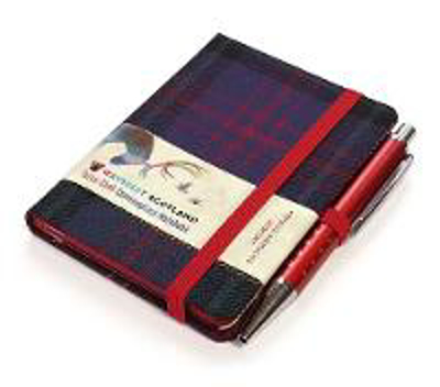 Picture of Hunting Tartan: Mini Notebook with Pen; 10.5 x 7.5cm: Scottish Traditions: Waverley Genuine Tartan Cloth Commonplace Notebook