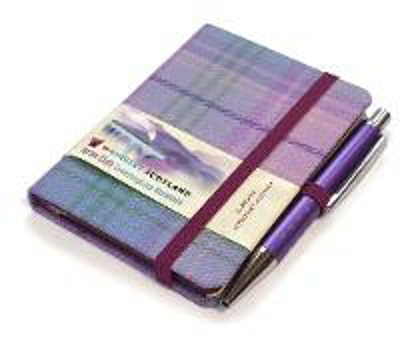 Picture of Romance Tartan: Mini Notebook with Pen: Scottish Traditions: Waverley Genuine Tartan Cloth Commonplace Notebook