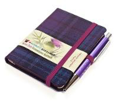 Picture of Thistle Tartan: Mini with Pen: Scottish Traditions: Waverley Genuine Tartan Cloth Commonplace Notebook