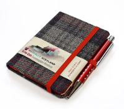 Picture of Castle Grey Tartan: Mini with Pen: 10.5 x 7.5cm: Scottish Traditions: Waverley Genuine Tartan Cloth Commonplace Notebook