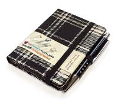 Picture of Black and White Tartan: Mini with Pen: Scottish Traditions: Waverley Genuine Tartan Cloth Commonplace Notebook