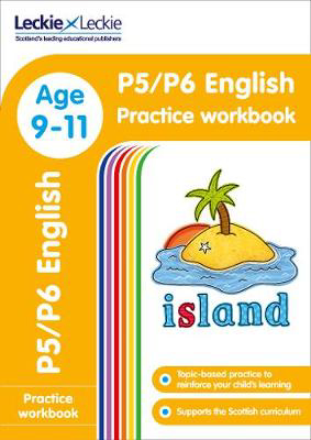 Picture of P5/P6 English Practice Workbook: Extra Practice for CfE Primary School English (Leckie Primary Success)