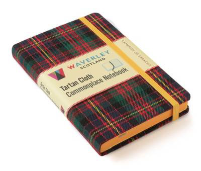 Picture of Cameron of Erracht: Waverley Genuine Tartan Cloth Commonplace Notebook (9cm x 14cm)