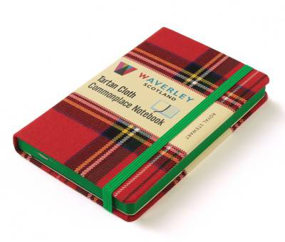 Picture of Waverley Scotland Large Tartan Cloth Commonplace Notebook - Royal Stewart Tartan