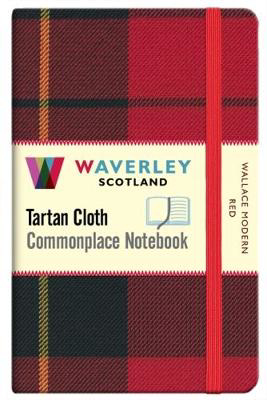 Picture of Wallace Modern Red:: Waverley Genuine Tartan Cloth Commonplace Pocket Notebook (9cm x 14cm)