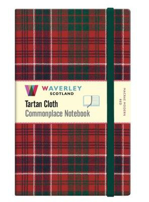Picture of MacRae Modern Red: Large: Waverley Genuine Tartan Cloth Commonplace Notebook (21cm x 13cm)
