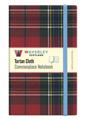 Picture of Maclean of Duart:: Large Waverley Genuine Tartan Cloth Commonplace Notebook (21cm x 13cm)