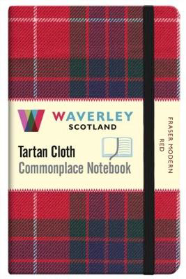 Picture of Fraser Modern Red:: Waverley Genuine Tartan Cloth Commonplace Pocket Notebook (9cm x 14cm)