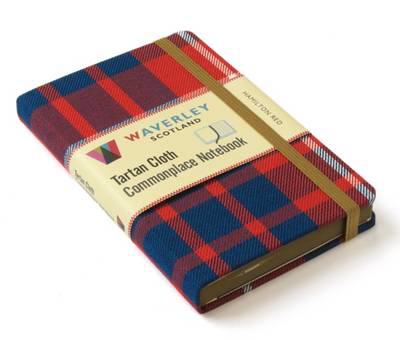 Picture of Waverley (M): Hamilton Red Tartan Cloth Commonplace Notebook