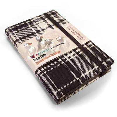 Picture of Waverley S.T. (M): Black & White Pocket Genuine Tartan Cloth Commonplace Notebook