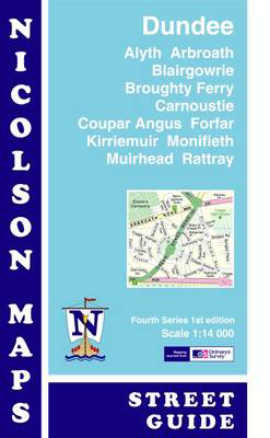 Picture of Nicolson Street Map Dundee (Card Cover): Alyth,Arbroath,Blairgowrie,Broughty Ferry,Carnoustie,Coupar Angus,Forfar,Kirriemuir,Monifieth,Muirhead & Rattray