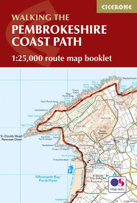 Picture of Pembrokeshire Coast Path Map Booklet: 1:25,000 OS Route Mapping