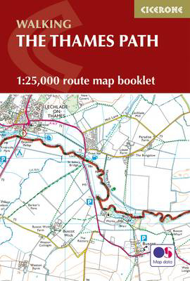 Picture of The Thames Path Map Booklet: 1:25,000 OS Route Map Booklet