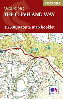 Picture of The Cleveland Way Map Booklet: 1:25,000 OS Route Mapping