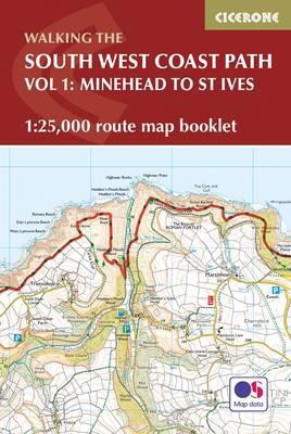 Picture of South West Coast Path Map Booklet - Vol 1: Minehead to St Ives: 1:25,000 OS Route Mapping