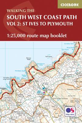 Picture of South West Coast Path Map Booklet - Vol 2: St Ives to Plymouth: 1:25,000 OS Route Mapping