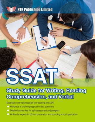 Picture of SSAT Study Guide for Writing, Reading Comprehension, and Verbal