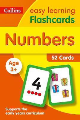 Picture of Numbers Flashcards: Prepare for Preschool with easy home learning (Collins Easy Learning Preschool)