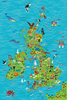 Picture of Children's Wall Map of the United Kingdom and Ireland