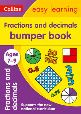 Picture of Fractions & Decimals Bumper Book Ages 7-9: Prepare for school with easy home learning (Collins Easy Learning KS2)