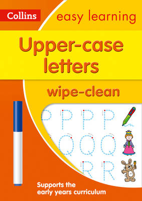 Picture of Upper Case Letters Age 3-5 Wipe Clean Activity Book: Prepare for Preschool with easy home learning (Collins Easy Learning Preschool)