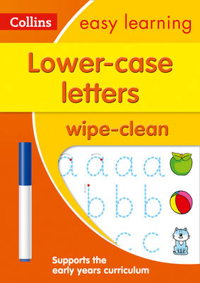 Picture of Lower Case Letters Age 3-5 Wipe Clean Activity Book: Prepare for Preschool with easy home learning (Collins Easy Learning Preschool)