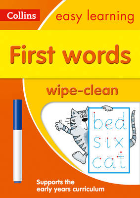 Picture of First Words Age 3-5 Wipe Clean Activity Book: Prepare for Preschool with easy home learning (Collins Easy Learning Preschool)
