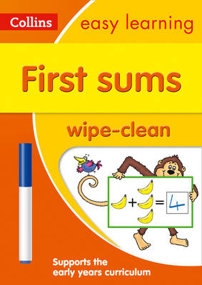 Picture of First Sums Age 3-5 Wipe Clean Activity Book: Prepare for Preschool with easy home learning (Collins Easy Learning Preschool)