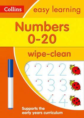 Picture of Numbers 0-20 Age 3-5 Wipe Clean Activity Book: Prepare for Preschool with easy home learning (Collins Easy Learning Preschool)