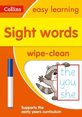 Picture of Sight Words Age 3-5 Wipe Clean Activity Book: Prepare for Preschool with easy home learning (Collins Easy Learning Preschool)