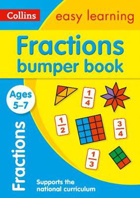 Picture of Fractions Bumper Book Ages 5-7: Prepare for school with easy home learning (Collins Easy Learning KS1)