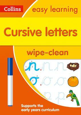 Picture of Cursive Letters Age 3-5 Wipe Clean Activity Book: Prepare for Preschool with easy home learning (Collins Easy Learning Preschool)