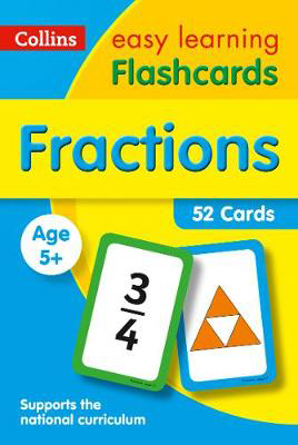 Picture of Fractions Flashcards: Prepare for Preschool with easy home learning (Collins Easy Learning KS1)
