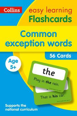 Picture of Common Exception Words Flashcards: Prepare for school with easy home learning (Collins Easy Learning KS1)