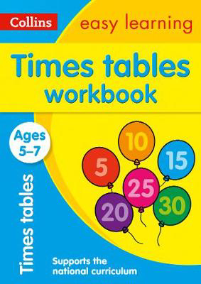 Picture of Times Tables Workbook Ages 5-7: Prepare for school with easy home learning (Collins Easy Learning KS1)