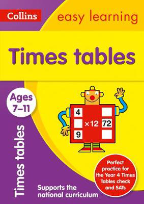 Picture of Times Tables Ages 7-11: Prepare for school with easy home learning (Collins Easy Learning KS2)