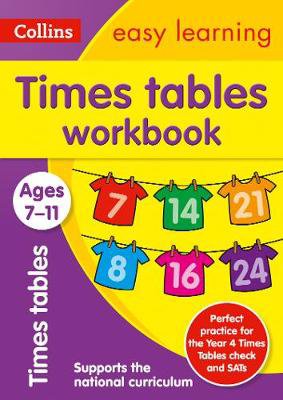 Picture of Times Tables Workbook Ages 7-11: Prepare for school with easy home learning (Collins Easy Learning KS2)