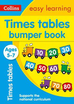 Picture of Times Tables Bumper Book Ages 5-7: Prepare for school with easy home learning (Collins Easy Learning KS1)
