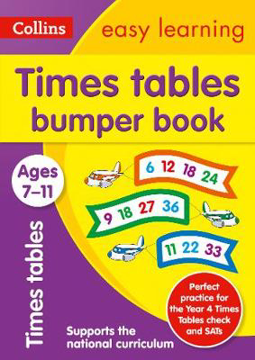 Picture of Times Tables Bumper Book Ages 7-11: Prepare for school with easy home learning (Collins Easy Learning KS2)