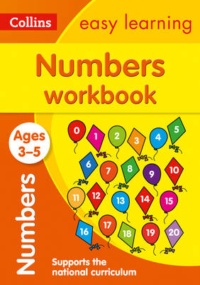 Picture of Numbers Workbook Ages 3-5: Prepare for Preschool with easy home learning (Collins Easy Learning Preschool)