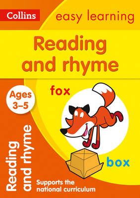 Picture of Reading and Rhyme Ages 3-5: Prepare for Preschool with easy home learning (Collins Easy Learning Preschool)