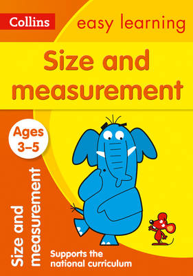 Picture of Size and Measurement Ages 3-5: Prepare for Preschool with easy home learning (Collins Easy Learning Preschool)