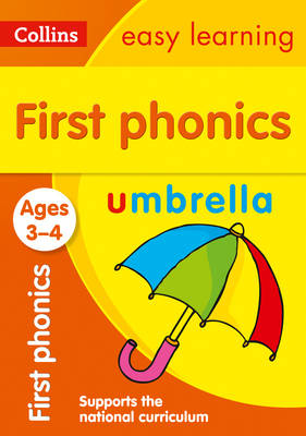 Picture of First Phonics Ages 3-4: Prepare for Preschool with easy home learning (Collins Easy Learning Preschool)