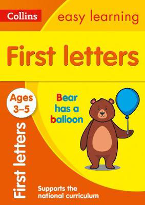 Picture of First Letters Ages 3-5: Prepare for Preschool with easy home learning (Collins Easy Learning Preschool)