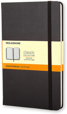 Picture of Black Ruled Moleskine - Limited Edition Edinburgh International Book Festival Logo Edition